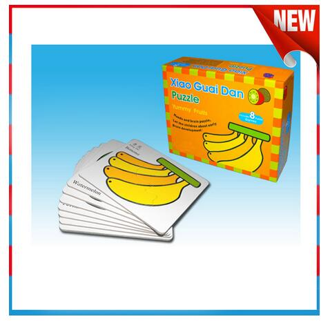 Hot selling educational baby fruit paper puzzle toy