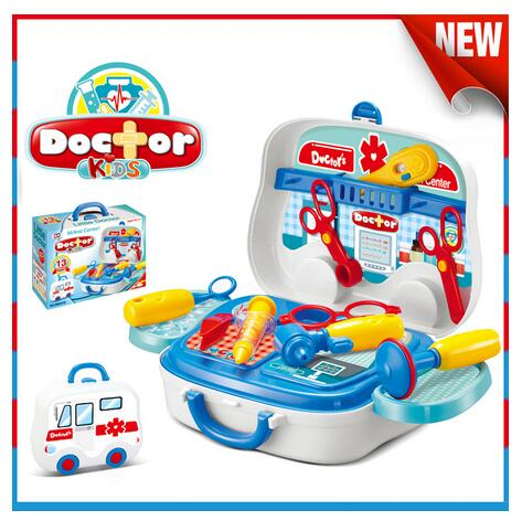 New arrival Plastic Educational Toy Kids Doctor Play Set Suitcase Toys