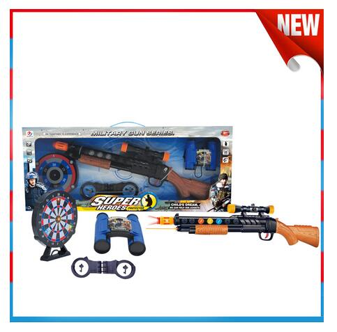 Boy Gift Infrared Minitary Gun With Dartboard