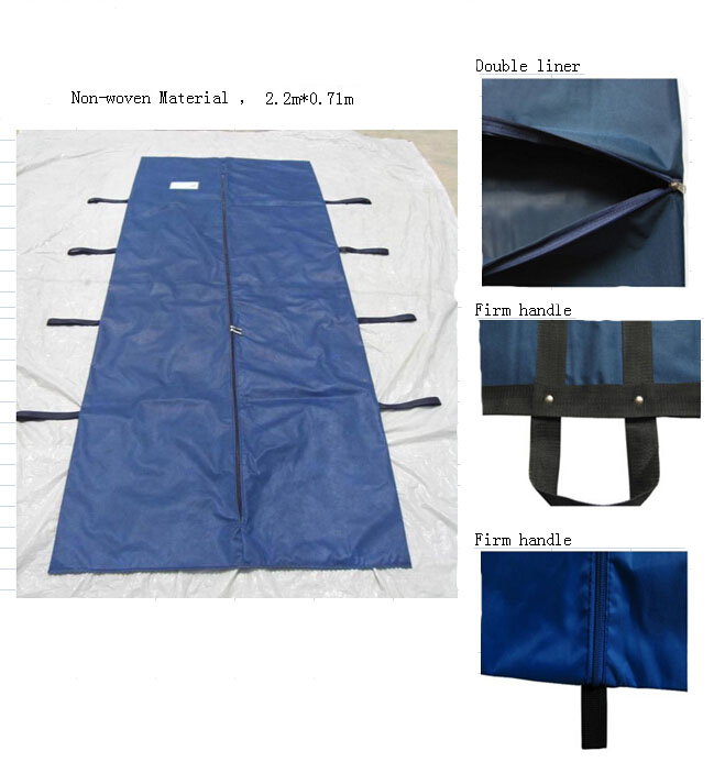 Non-woven Material High quality Handled carrying body Bags/Corpse bodybags