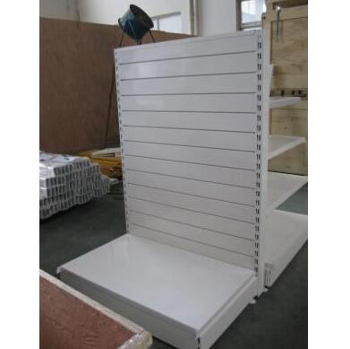 Metal slat wall shelving