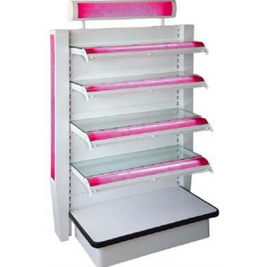Cosmetics shelving