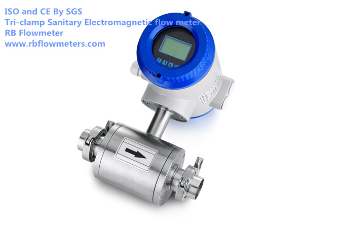 Tri-clamp Sanitary type electromagnetic flowmeter