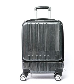 Customized ABS PC Front Openning Polo Trolley Suitcase For Travel