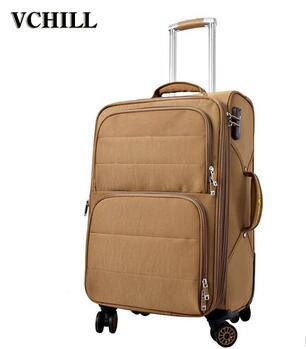 China Factory 4 Wheels Urban Polyester EVA Soft Trolley Luggage With Low Price