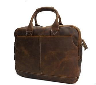 YD-8013 Luxury UK designer top grain cow leather mens A4 documents office laptop bag