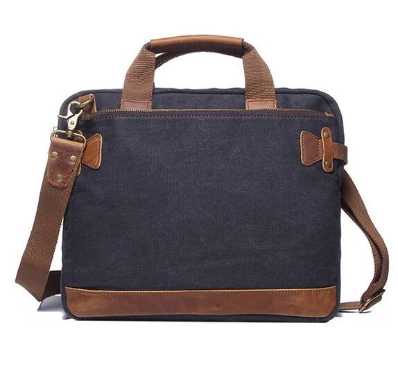 Men Vintage canvas shoulder briefcase messenger bag file handbag YD-2053