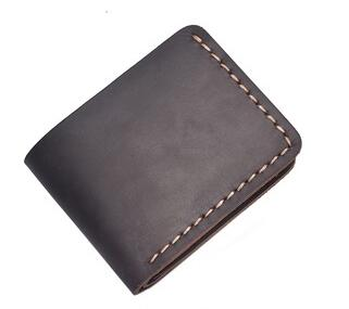 YD-1016 New arrival genuine leather crazy horse leather vintage men's bifold wallet