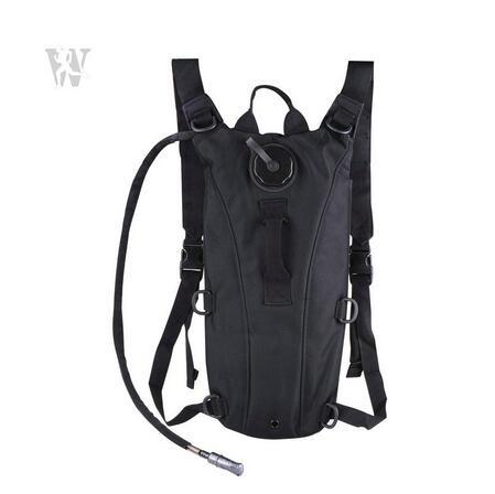 Outdoor Black Durable Nylon Camelback Hydration Back Pack Rucksack