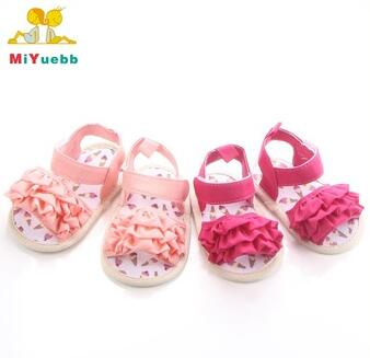 Summer Baby Solid Soft Sole Infant Girl Lace Sandals