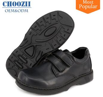 Bulk Wholesale Customized Wide Size Uniform Kids School Shoes Quality Boys Black Leather School Shoes for Student