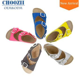Wholesale 2017 Genuine Leather Kids Boys Cork Sandals from China