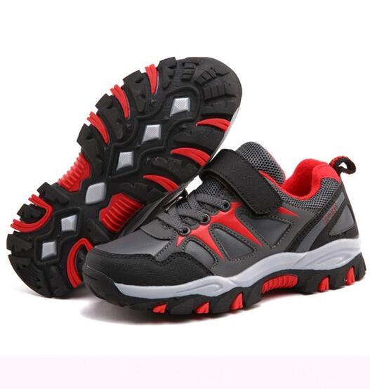 HOBIBEAR new model high quality waterproof outdoor children boys hiking sport shoes