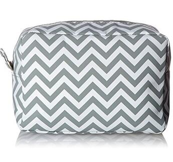 Guangzhou Supplier Promotional Lady Stripes Make-Up Cosmetic Tote Bag Carry Case
