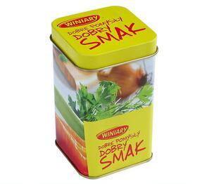 Square food grade sauce seasoning spice packaging tin