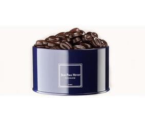 small round metal coffee canister