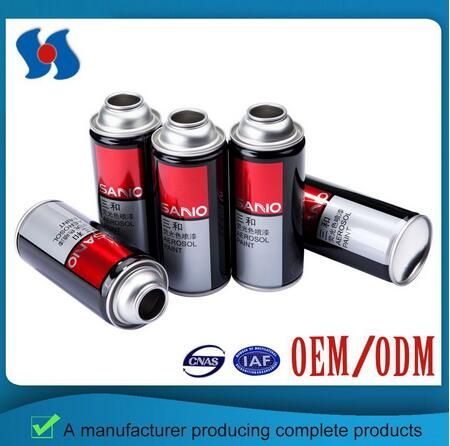 Empty Aerosol Tin Can in Different Sizes