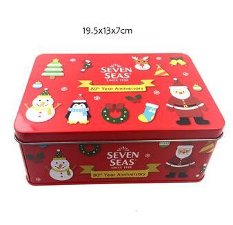 Christmas gift tin box