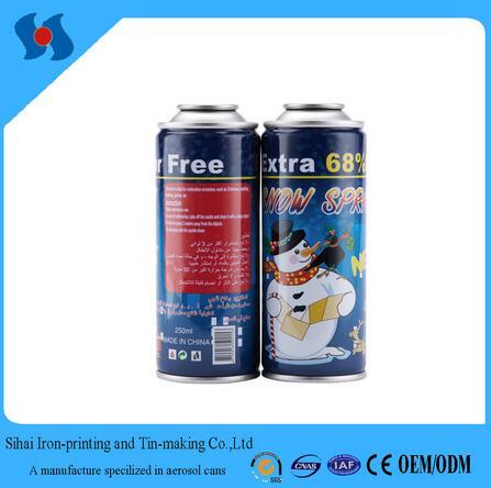 dia 52mm empty aerosol can for snow spray tin can