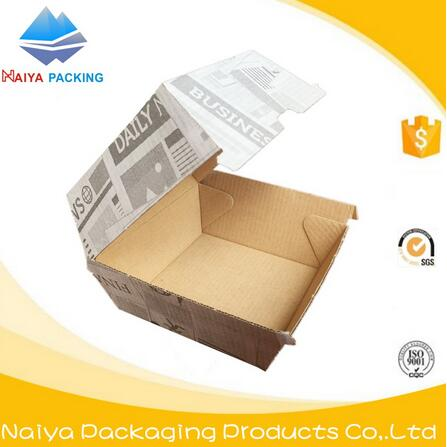 Disposable printed paper packing corrugated boxes use for burger