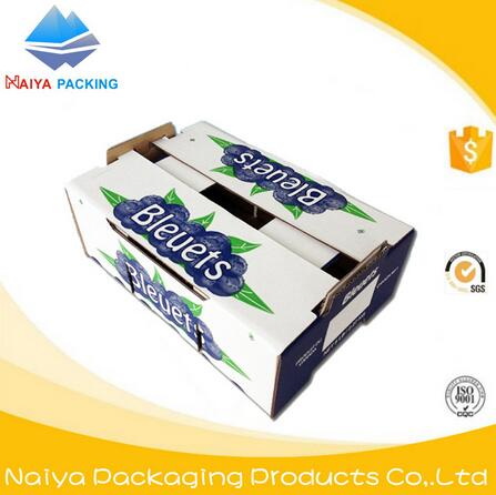 custom round corrugated fruit carton box packaging