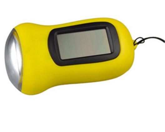 Hand crank solar emergency flashlight, 3 led hand crank hand torch, cranking rechargeable dynamo