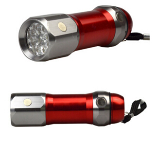 9 LED Mini Aluminum Alloy Flashlight with Magnet