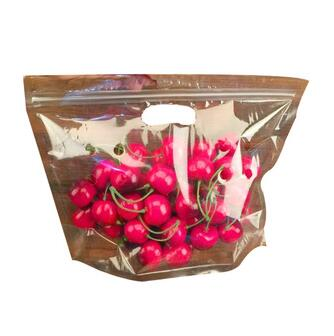 transparent zipper plastic packaging fresh fruit bags/vegetables plastic bags with handles