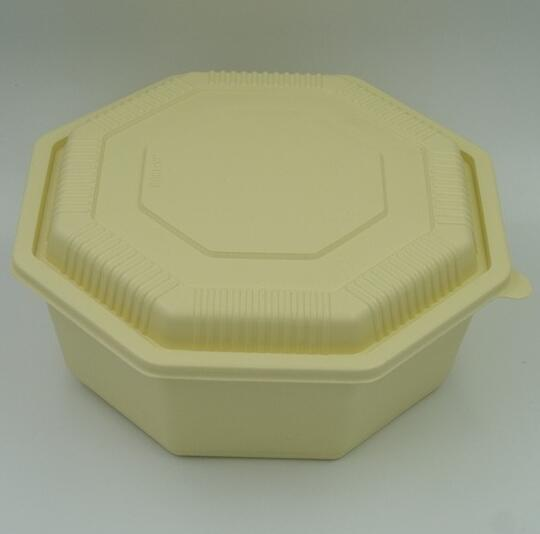 Large unique octangle PP microwave safe food grade plastic food box