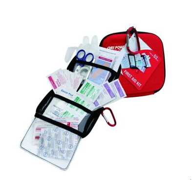 Wholesale best portable EVA outdoors road trip first aid kit bag 56pcs