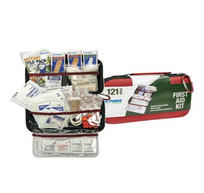 Promotional accident & disaster emergency survival kit 121pcs