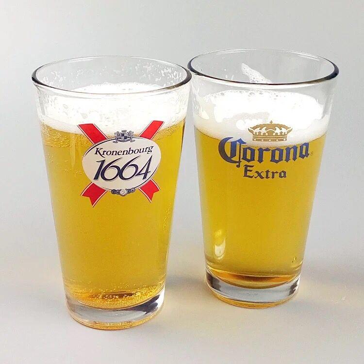 16oz clear juice glass with customized logo