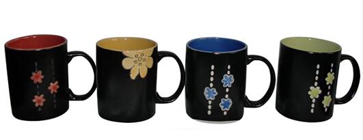 Various shapes and colors stoneware mug