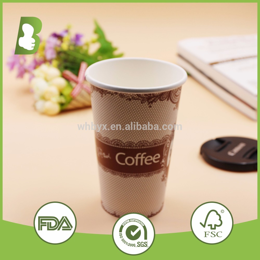Fashional Style Top Quality Logo Printed Custom Disposable Paper Cup