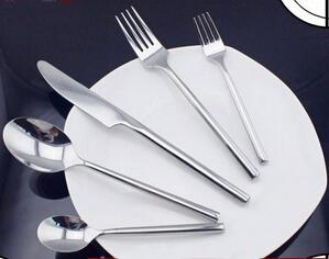 Classic design hand polish stainless steel flatware