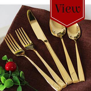 High grade gold plated mirror polish dinnerware