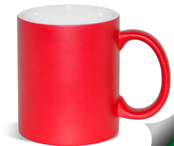 Factory sublimation mug with color outside and handle wholesale
