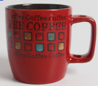High quality customized color and size embossed coffee mug