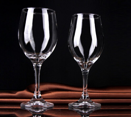 Hot sale new product unbreakable clear wine glass