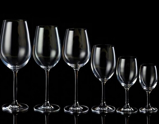 Crystal Handmade Various Capacity Clear Stemware Wine Glass