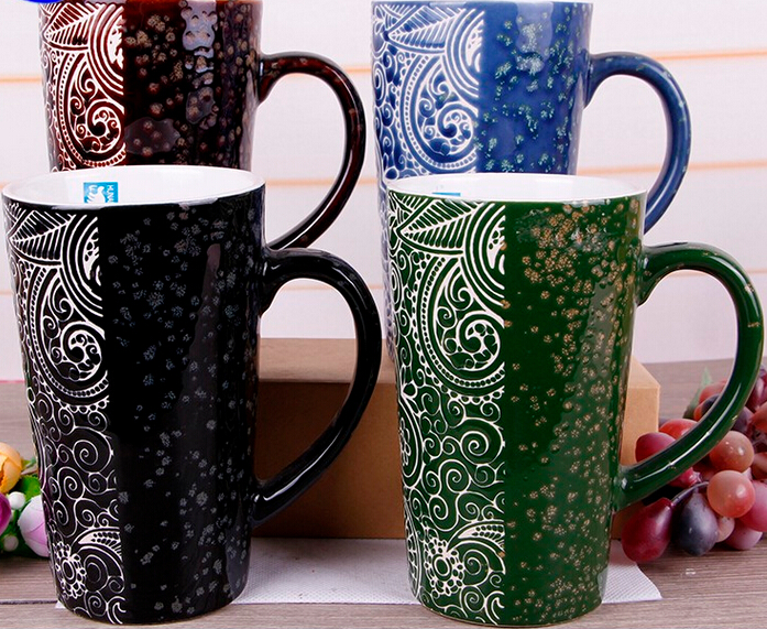 Big Eco-Friendly Solid Harmonious Color Glazed Coffee Mug