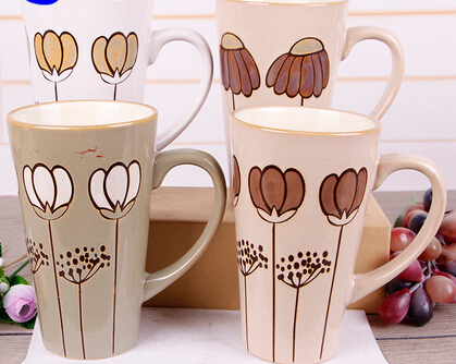 Cheap large-Capacity Tall Ceramic Coffe Mug Wholesale