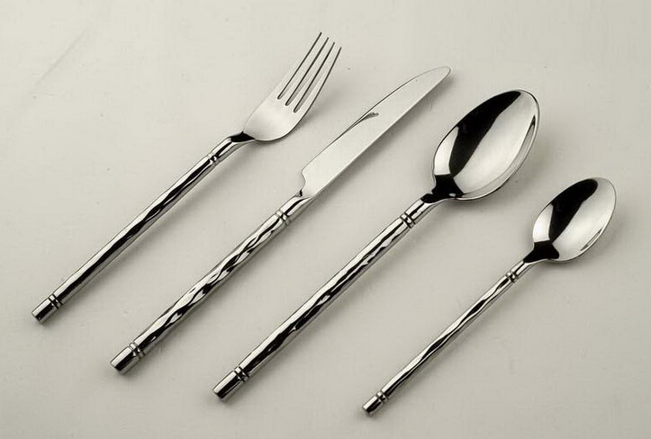Hot-Selling Stainless Steel Cutlery Set With Spiral Handle
