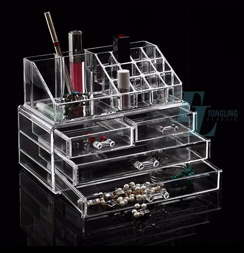 Top supplier custom plastic clear acrylic cosmetic beauty makeup organizer