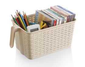 Good design rectangular plastic storage basket with handle