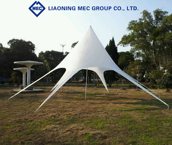Water-Proof and Sun-Proof Custom White Colored Folding Star Tent