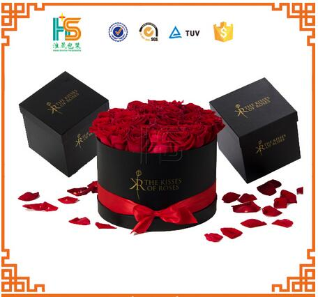 Customized luxury Rose Delivery Round Packaging Gift Box