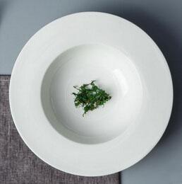 ceramic deep round dinner plate