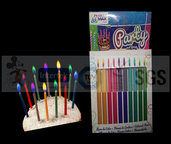 New Style Magic Colored Flame Taper Candles
