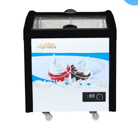 Sliding Toughened Coating Glass Ice Cream Freezer